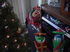M&M guys enjoy Christmas